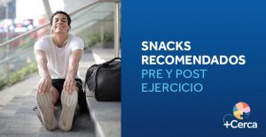 Snacks recomendados pre y post ejercicio