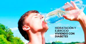 Hidratación y ejercicio viviendo con diabetes